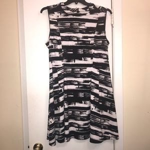 Attention Black and White Dress